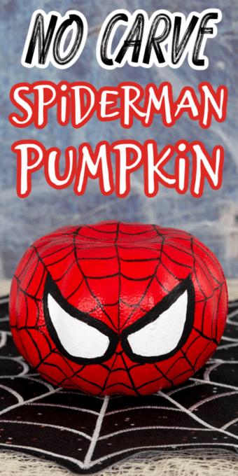 No carve spiderman pumpkin pin