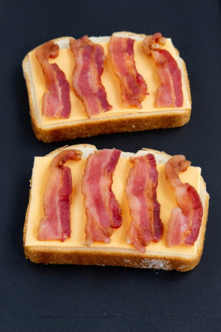 Bacon for grilled cheese sandwich