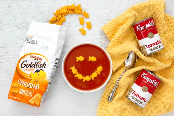 Campbell's Tomato Soup With Goldfish