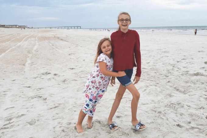 Girls at the beach