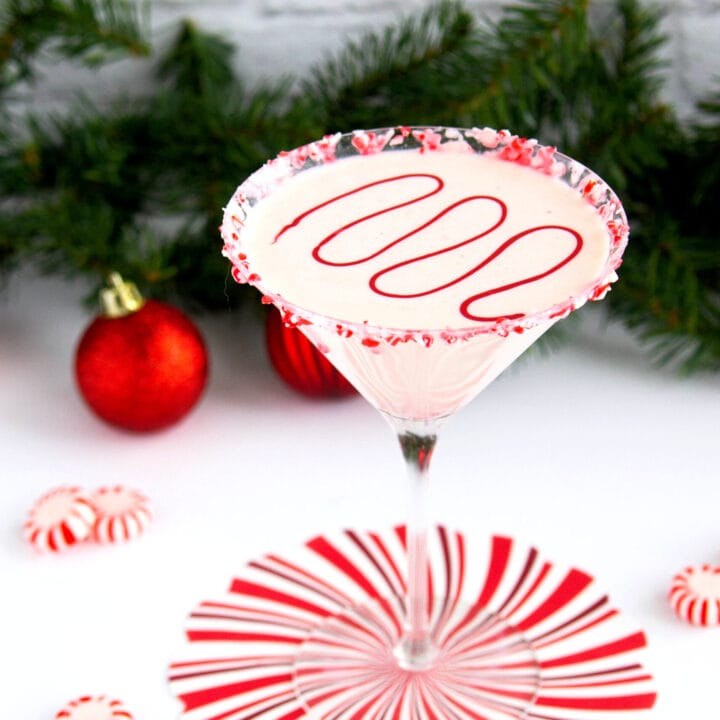 Peppermint white chocolate martini
