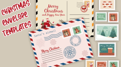 Christmas envelope templates feature