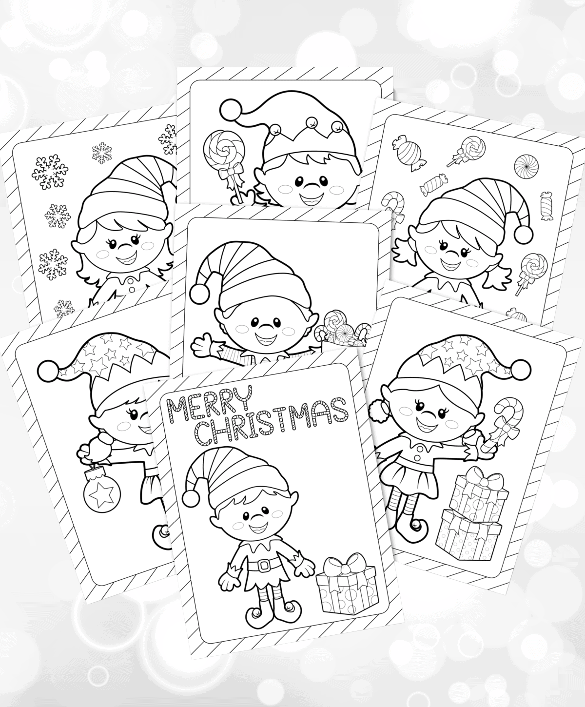 Get Free Christmas Elf Coloring Pages
