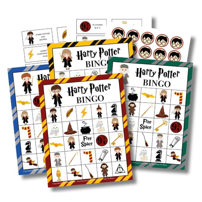 Harry Potter Bingo Game