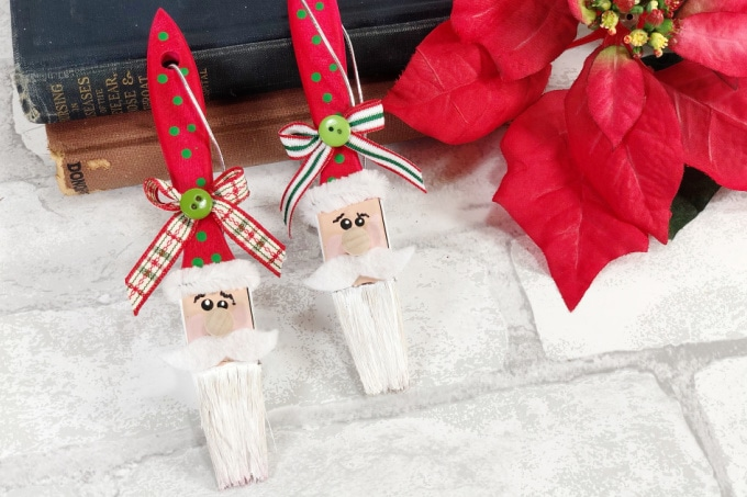 Paintbrush Santa Ornaments