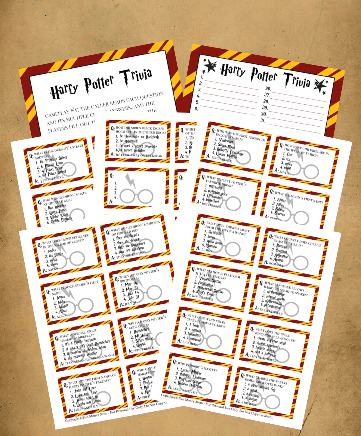 Get A Free Harry Potter Trivia Game!