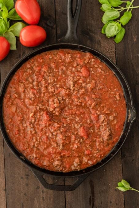 Meat sauce for lasagna recipe