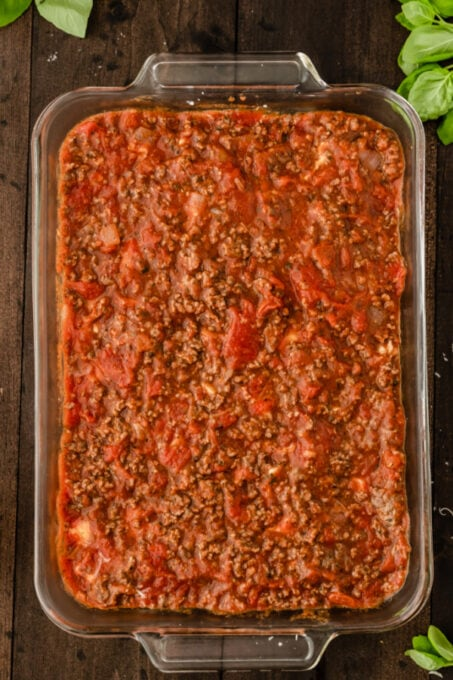 Meat sauce for homemade lasagna