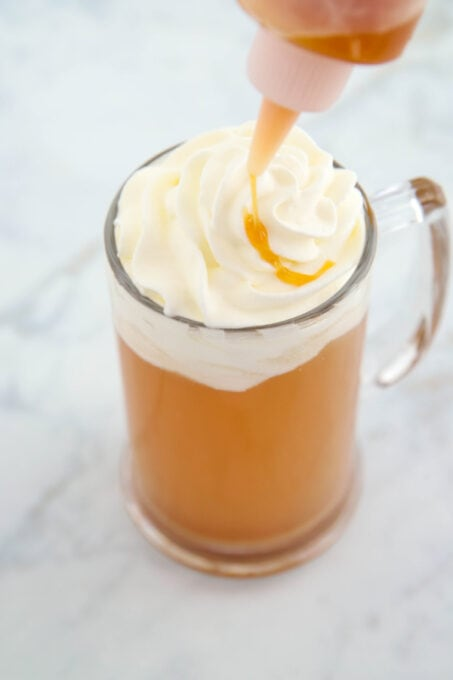 Adding more creme soda for Butterbeer