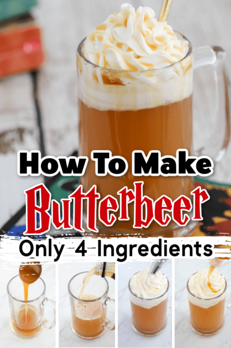 Harry Potter Butterbeer with tutorial shots