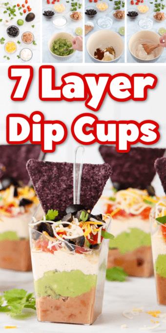 Seven Layer Dip Cup pin