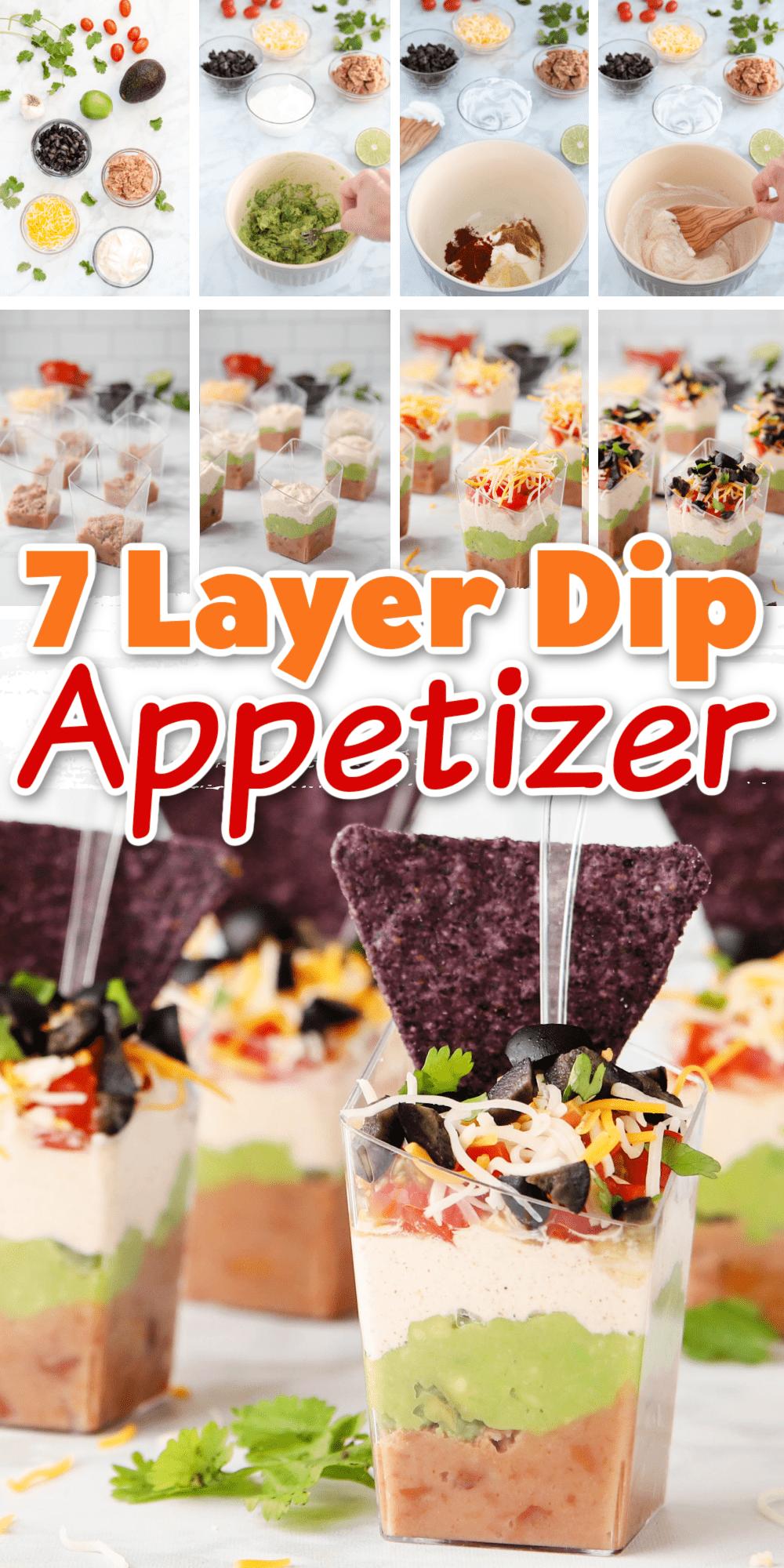 Seven Layer Dip In Mini Cups