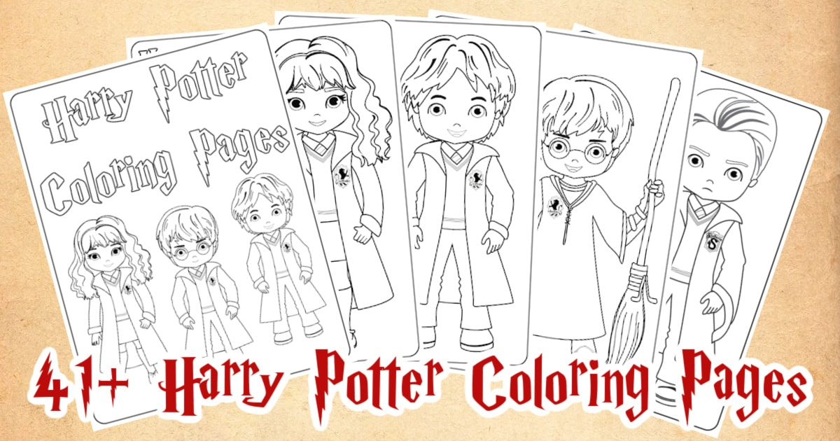 41 Harry Potter Printable Coloring Pages For Kids
